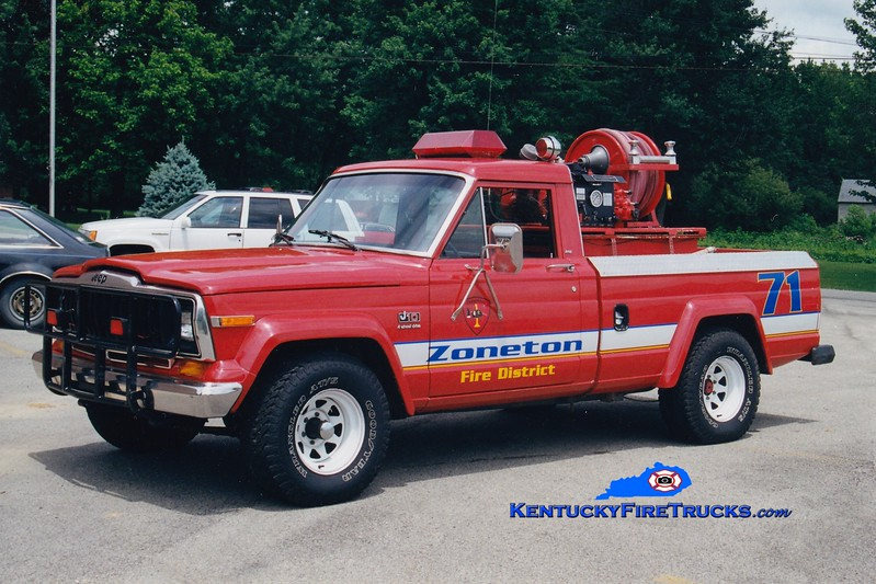 <center> RETIRED <br> Zoneton  Brush 8171 <br> 1983 Jeep/Western Fire 50/200 <br> Greg Stapleton photo </center>