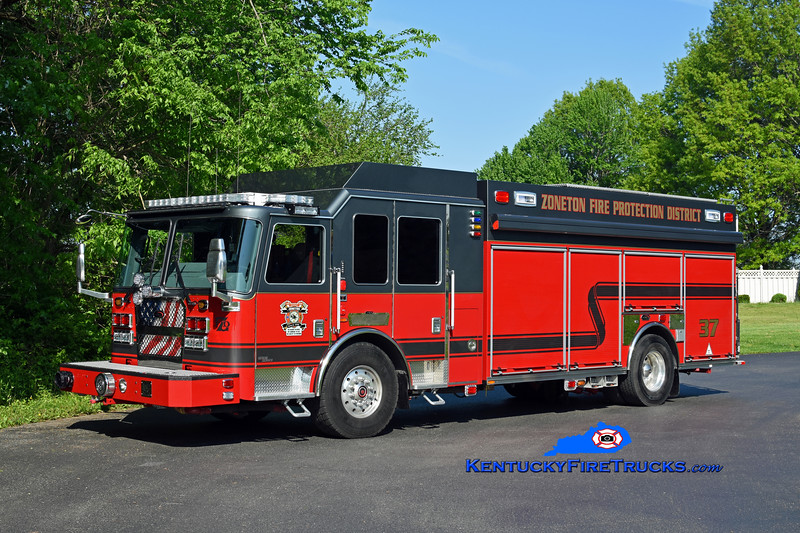 Zoneton  Engine 8137<br /> 2017 KME Severe Service 1500/750/40<br /> Kent Parrish photo