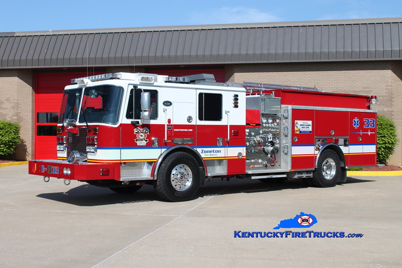 <center> Zoneton Engine 8133 <br> 2011 KME Predator Severe Service 2000/750/20 <br> Kent Parrish photo </center>