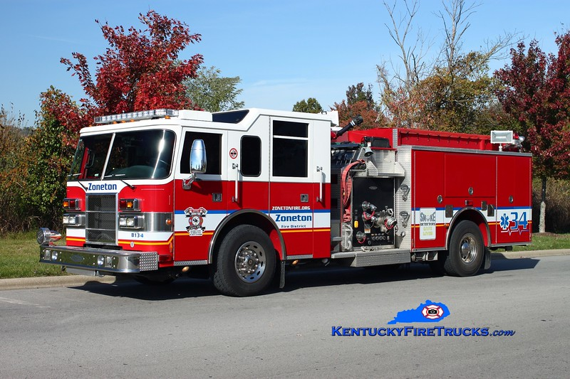 <center> Zoneton Engine 8134 <br> 1999 Pierce Dash 2000/1000 <br> Kent Parrish photo </center>