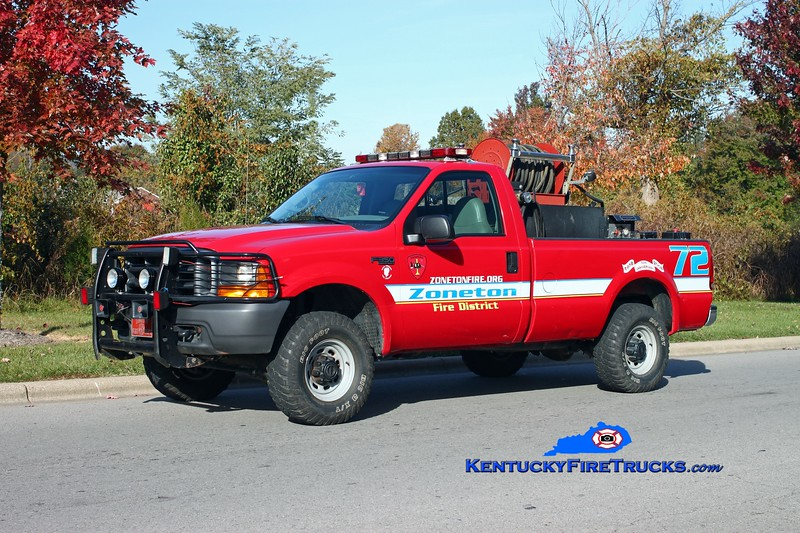<center> Zoneton  Brush 8172 <br> 1998 Ford F-350 4x4/Fire Department Service & Supply 250/250 <br> Kent Parrish photo </center>
