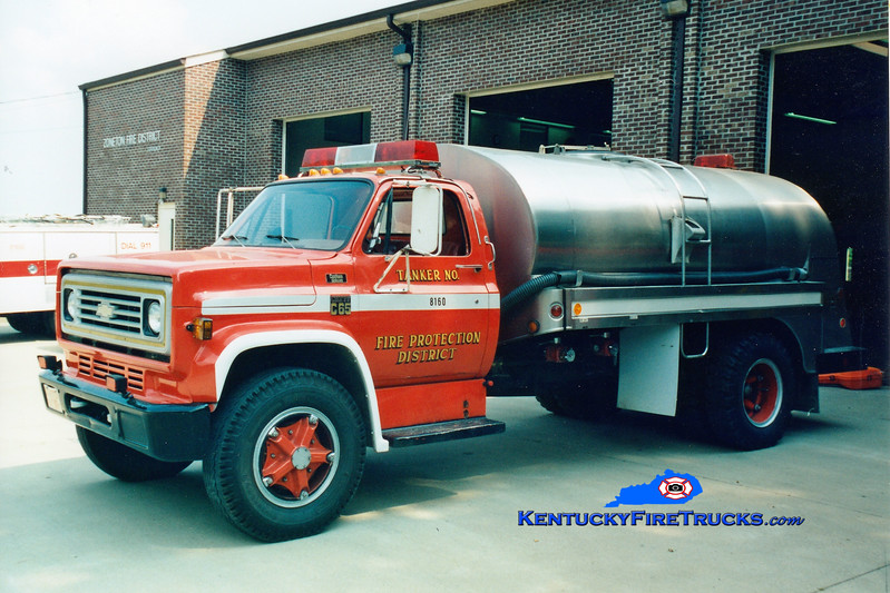 <center> RETIRED <br> Zoneton  Tanker 8160 <br> 1973 Chevy C65/Bluegrass  250/1800 <br> Greg Stapleton photo </center>