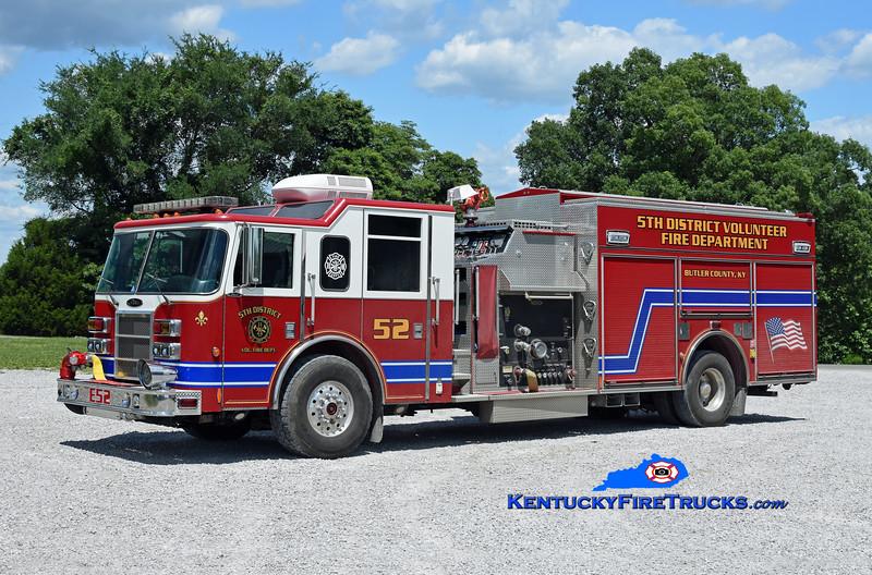 5th District  Engine 52<br /> x-Blue Ash, OH<br /> 2002 Pierce Dash 2000/750/30<br /> Kent Parrish photo