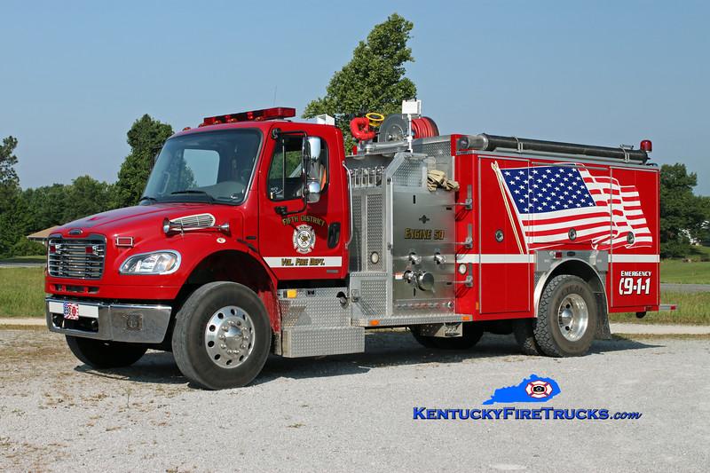 <center> 5th District  Engine 50 <br> 2005 Freightliner M2-106/E-One 1250/1000 <br> Kent Parrish photo </center>