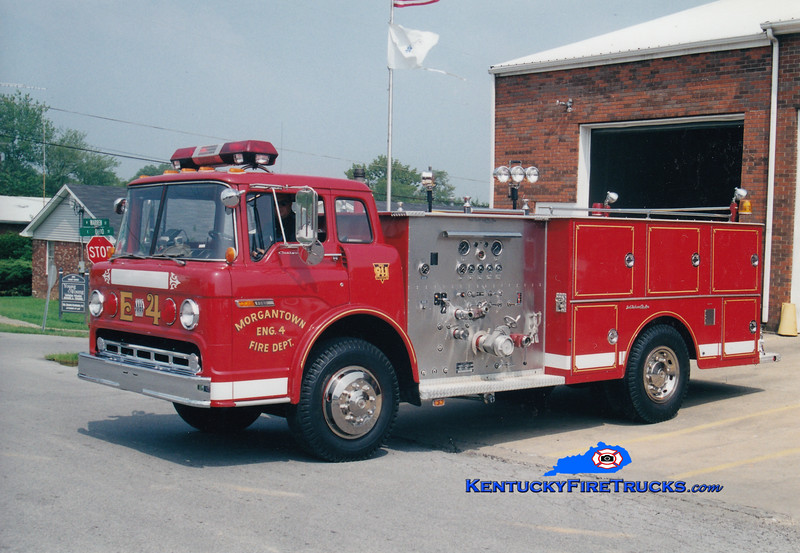 <center> RETIRED <br> Morgantown  Engine 4  <br> 1977 Ford C-900/JACO  750/750 <br> Greg Stapleton photo </center>
