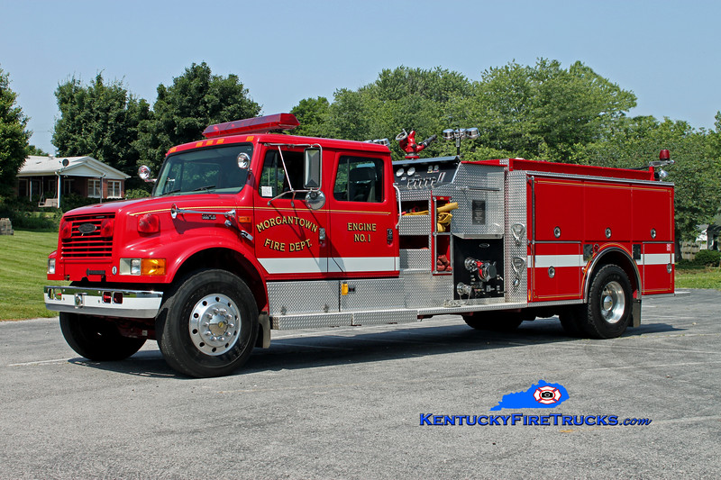 Morgantown  Engine 1 <br /> 1996 International 4900/Pierce 1250/1000 <br /> Kent Parrish photo