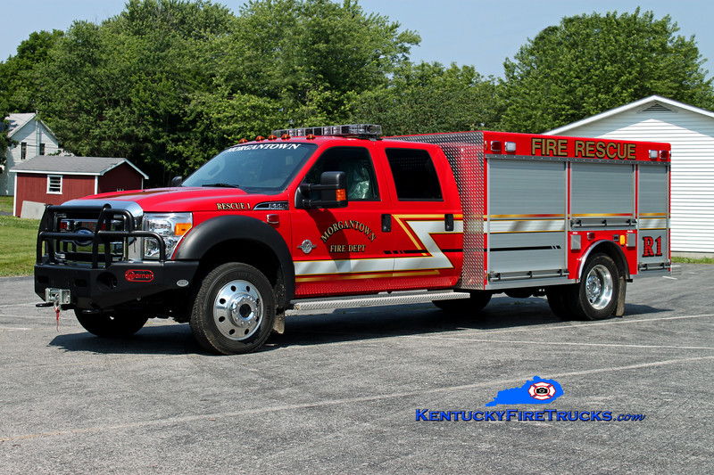 <center> Morgantown  Rescue 1  <br> 2011 Ford F-550 4x4/Warner Bodies/Delta Tankers <br> Kent Parrish photo </center>
