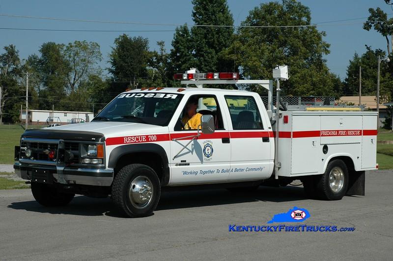 <center> Fredonia  Rescue 700 <br> 2012 Chevy 3500 4x4/Knapheide/Stewarts  <br> Greg Stapleton photo </center>