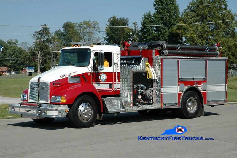 <center> Fredonia  Engine 701 <br> 2004 Kenworth T-300/Pierce 1250/1000  <br> Greg Stapleton photo </center>