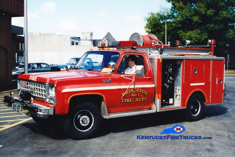<center> RETIRED <br> Princeton  Engine 7 <br> 1980 Chevy 4x4/Indiana 250/250 <br> Greg Stapleton photo </center>