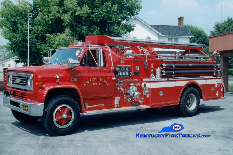 <center> RETIRED <br> Princeton  Engine 4 <br> 1974 Chevy C65/Howe 750/500/Quad <br> Greg Stapleton photo </center>