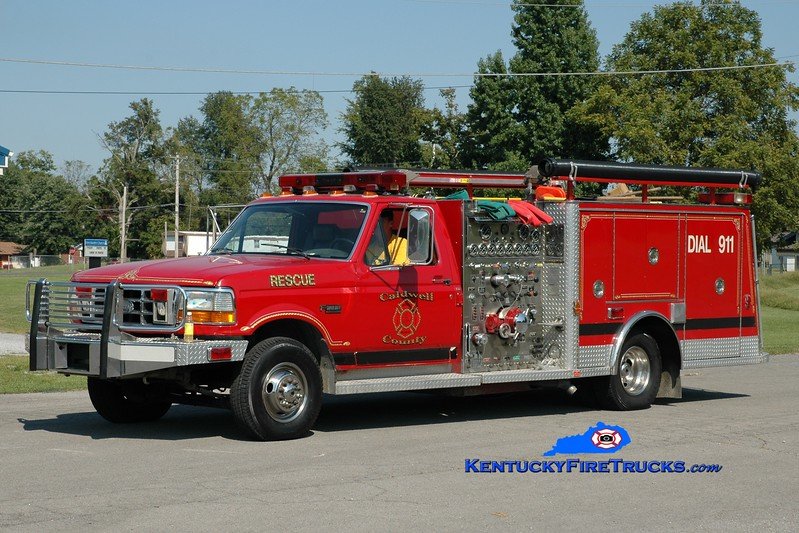 <center> RETIRED <br> Caldwell County  Engine 705 <br> 1993 Ford Super Duty 4x4/General Safety 750/400  <br> Greg Stapleton photo </center>
