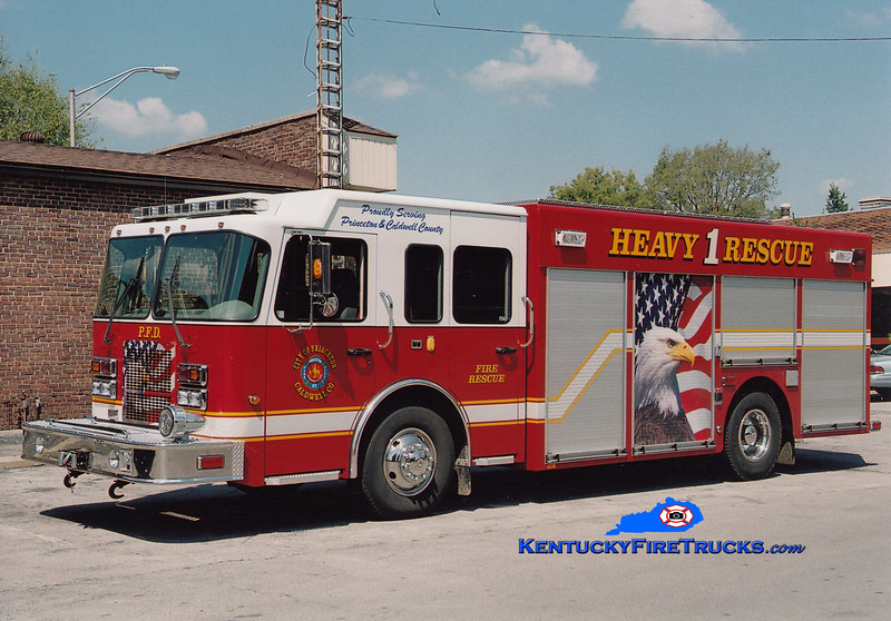 <center> Princeton-Caldwell County Rescue 1 <br> 2005 Spartan Advantage/SVI   <br> Greg Stapleton photo </center>