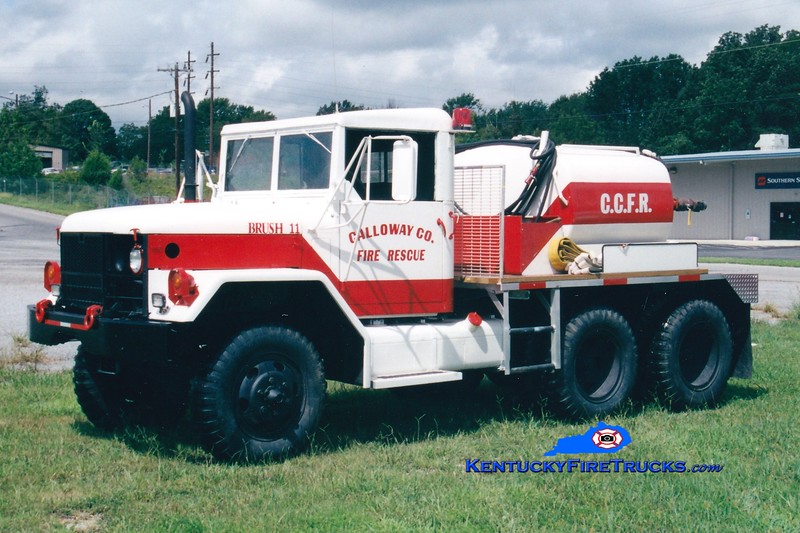 <center> RETIRED <br> Calloway County Brush 11 <br> 1970 AM General 6x6/CCFD 125/600 <br> Greg Stapleton photo </center>
