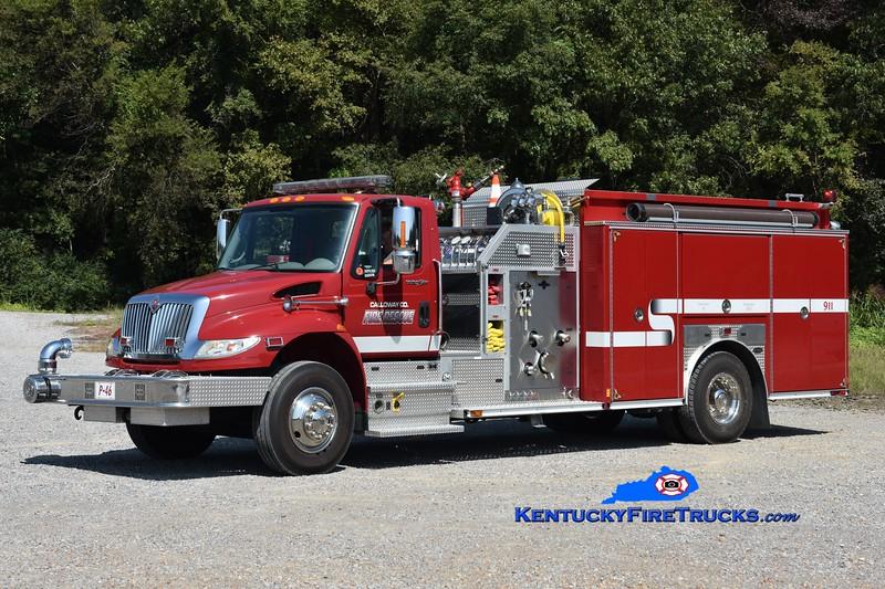 Calloway County Rescue-Pumper 46<br /> 2009 International 4400/E-One 1250/1000<br /> Greg Stapleton photo