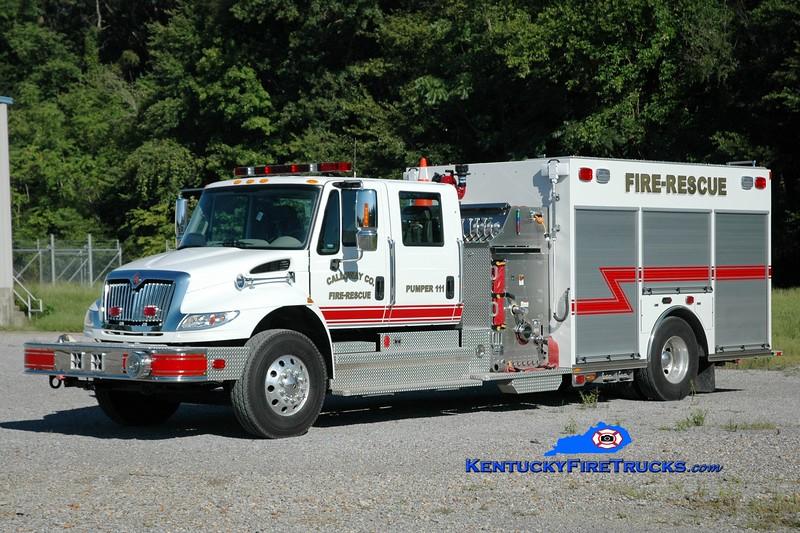 RETIRED <br /> Calloway County Pumper 111<br /> 2013 International 4400/KME 1250/1000<br /> Greg Stapleton photo