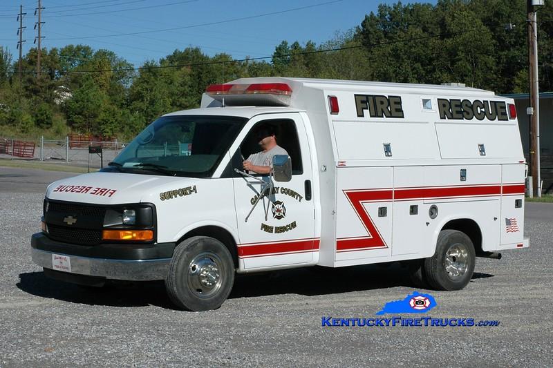 <center> Calloway County Support 1 <br> 2005 Chevy/Knapheide  <br> Greg Stapleton photo </center>