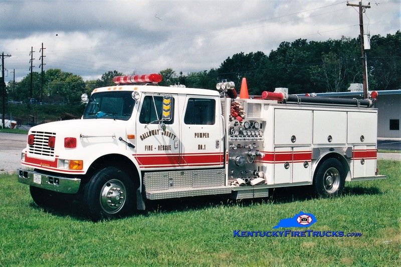 Calloway County Pumper 1<br /> REASSIGNED TO PUMPER 5<br /> 1992 International 4900/E-One 1250/1000 <br /> Greg Stapleton photo