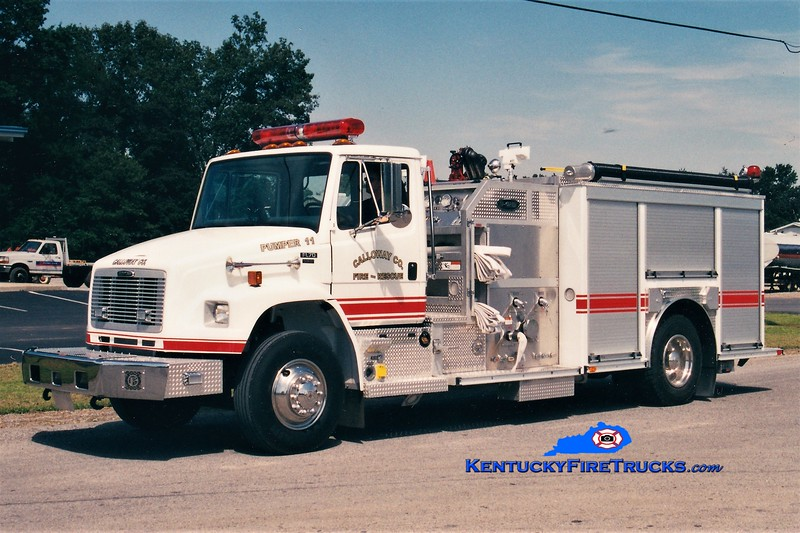 Calloway County Pumper 111<br /> REASSIGNED TO PUMPER 3 <br /> 2003 Freightliner FL70/E-One/Superior 1250/1000 <br /> Greg Stapleton photo