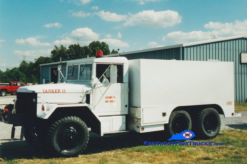 RETIRED<br /> Calloway County  Tanker 111 <br /> 1975 AM General/FD 250/1250<br /> Greg Stapleton photo