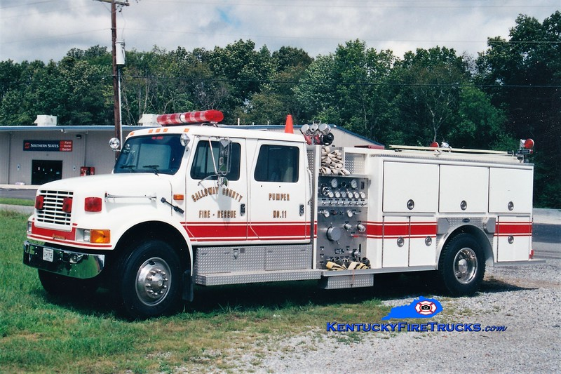 Calloway County Pumper 111<br /> REASSIGNED TO PUMPER 11<br /> 1992 International 4900E-One 1250/1000 <br /> Greg Stapleton photo