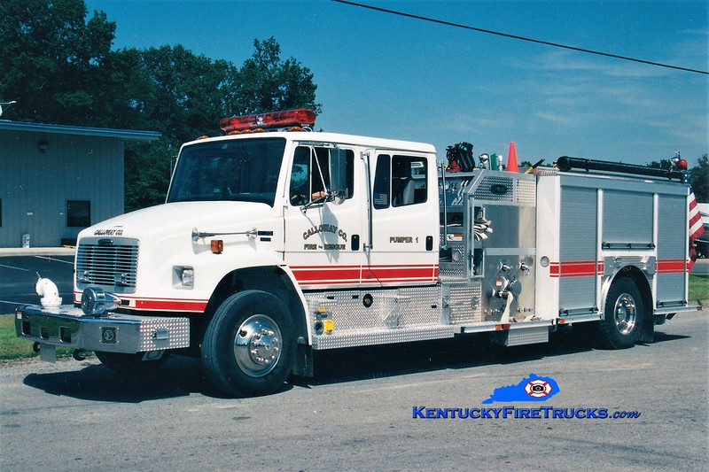 Calloway County Pumper 1<br /> REASSIGNED TO PUMPER 111<br /> 2003 Freightliner FL70/E-One 1250/1000<br /> Greg Stapleton photo