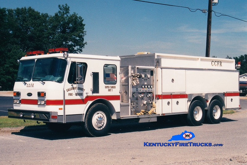 Calloway County Tanker 1<br /> REASSIGNED TO TANKER 8 <br /> 1990 E-One Cyclone 1000/3000 <br /> Greg Stapleton photo