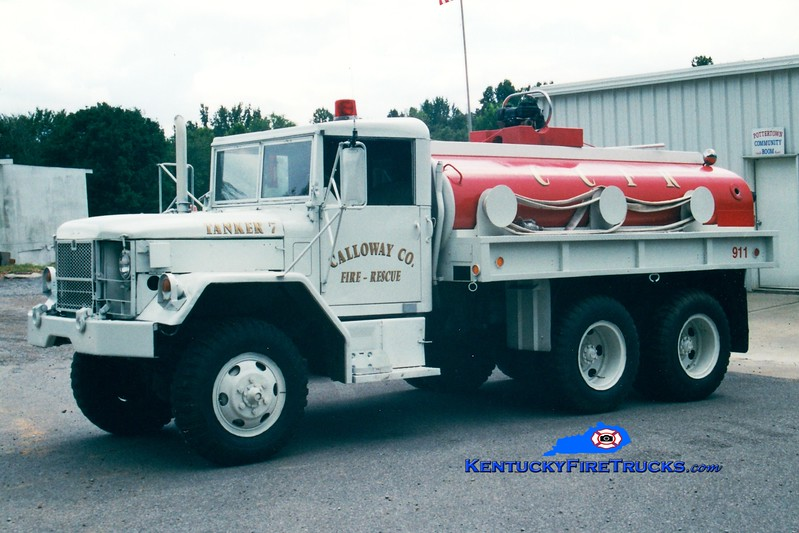 <center> RETIRED <br> Calloway County Tanker 7 <br> 1970 AM General 6x6/CCFD 0/1200 <br> Greg Stapleton photo </center>
