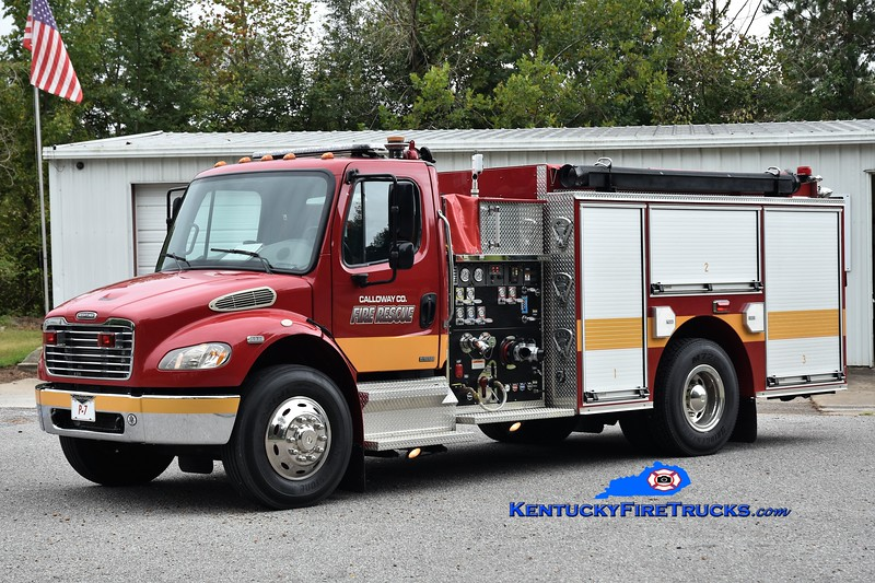 Calloway County  Pumper 7<br /> x-Concord, KY<br /> 2003 Freightliner M2-106/Pierce 1250/1000<br /> Greg Stapleton photo