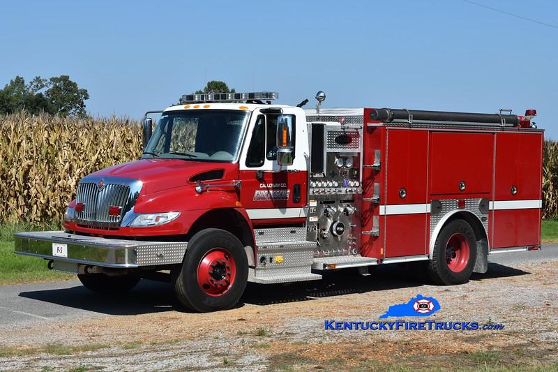 Calloway County Pumper 5<br /> 2014 International 4400/E-One 1250/1000<br /> Greg Stapleton photo
