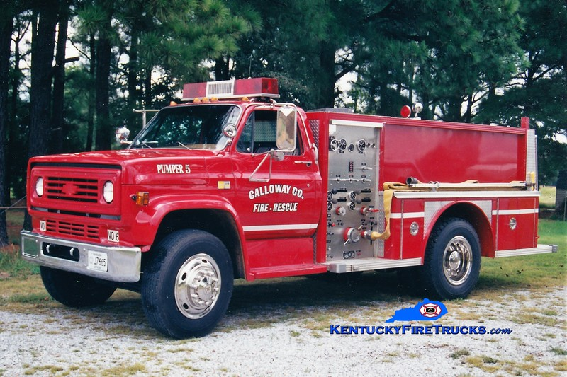 RETIRED<br /> Calloway County Pumper 5<br /> 1981 Chevy/E-One 1000/500<br /> Greg Stapleton photo
