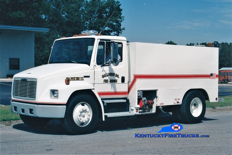 REASSIGNED <br /> Calloway County Tanker 7<br /> x-Tanker 111 <br /> 1996 Freightliner FL70/Local 0/1900 <br /> Greg Stapleton photo