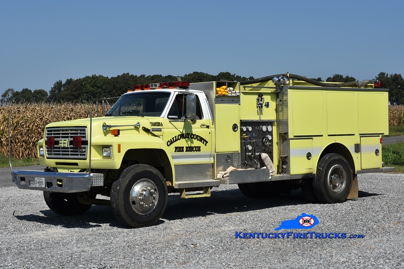 Calloway County  Tanker 6<br /> x-Orange County, FL<br /> 1985 Ford F-8000/EEI 350/2000<br /> Greg Stapleton photo
