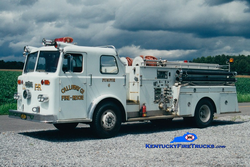 <center> RETIRED <br> Calloway County Pumper 6 <br> x-Madison Twp, OH <br> 1967 Pirsch 1000/1000 <br> Greg Stapleton photo </center>