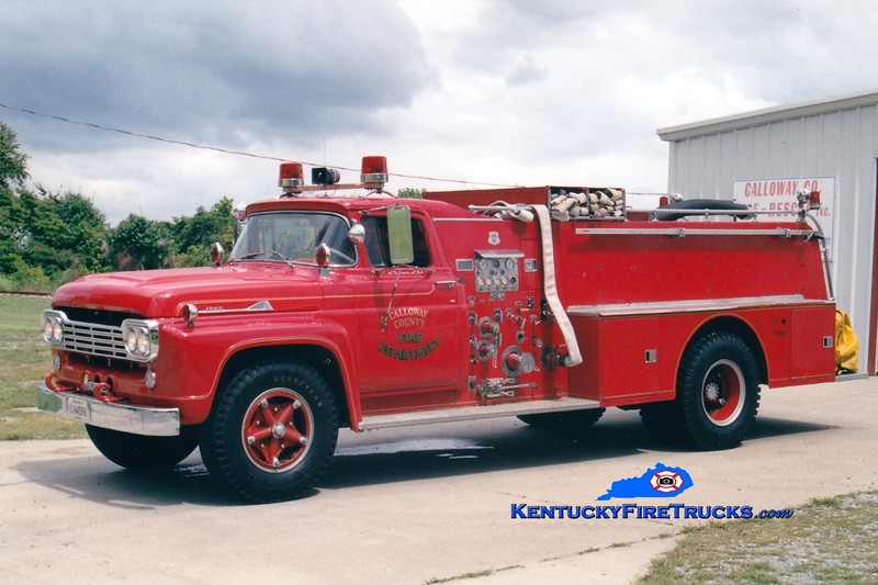 RETIRED <br /> Calloway County Pumper 4<br /> x-Murray, KY<br /> 1960 Ford F/Howe 750/500<br /> Greg Stapleton photo