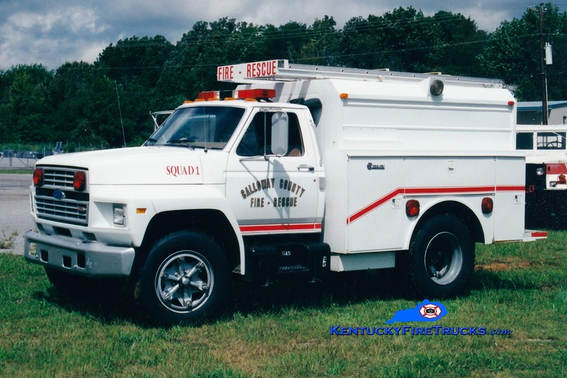 <center> RETIRED <br> Calloway County Squad 1 <br> 1986 Ford F/Firetec 250/300 <br> Greg Stapleton photo </center>