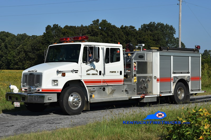 Calloway County Pumper 9<br /> x-Pumper 1 and 6<br /> 2003 Freightliner FL80/E-One 1250/1000<br /> Greg Stapleton photo