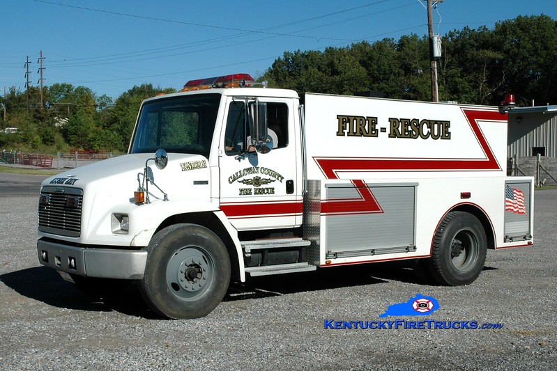 <center> REASSIGNED <br> Calloway County Tanker 11 <br> 1998 Freightliner FL70/Local 250/1800 <br> Greg Stapleton photo </center>