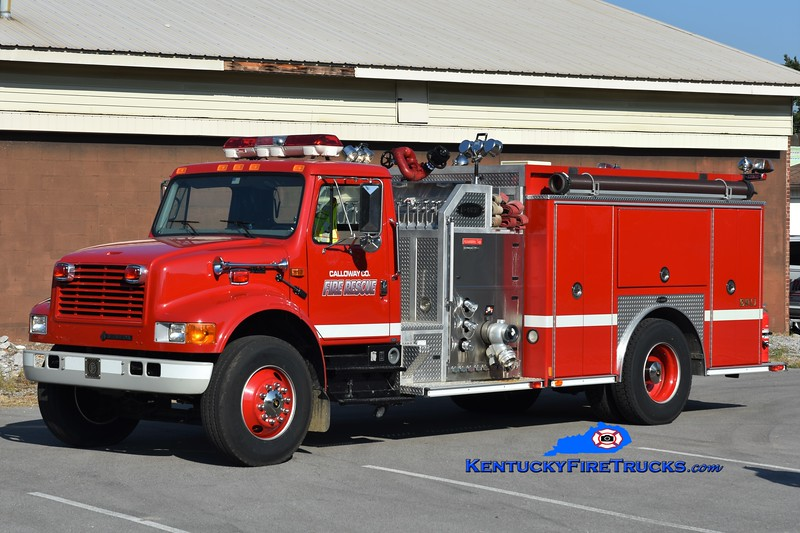 Calloway County Pumper 12<br /> x-Hazel, KY<br /> 2000 International 4900/E-One 1250/1000<br /> Greg Stapleton photo