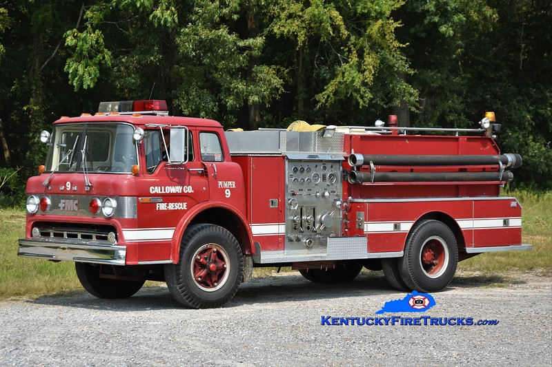 RETIRED <br /> Calloway County Pumper 9<br /> x-Hiway 58, TN<br /> 1977 Ford C-900/FMC 1000/1000<br /> Greg Stapleton photo