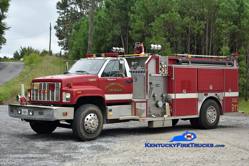 Calloway County  Pumper 10<br /> x-Crisp County, GA <br /> 1992 GMC TopKick/E-One 1250/1000<br /> Greg Stapleton photo