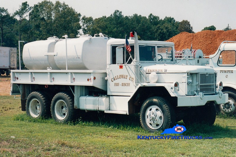 <center> RETIRED <br> Calloway County Tanker 10 <br> 1970 AM General 6x6/CCFD 250/1200 <br> Greg Stapleton photo </center>