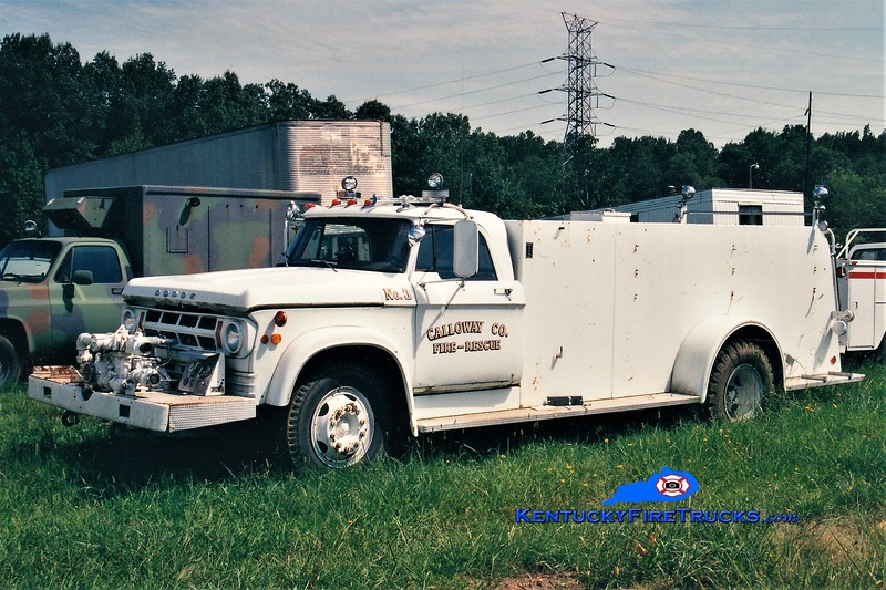 RETIRED<br /> Calloway County Pumper 3<br /> 1972 Dodge/Howe 500/1000<br /> Greg Stapleton photo
