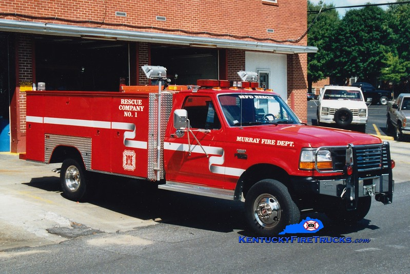 <center> RETIRED <BR> Murray  Rescue 1 <br> 1992 Ford F-350 4x4/Local  <br> Greg Stapleton photo </center>