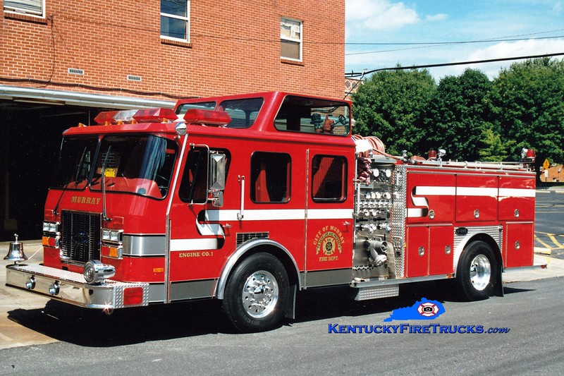<center> RETIRED <br> Murray  Engine 1  <br> 1992 E-One Cyclone TC 1500/500 <br> Greg Stapleton photo </center>