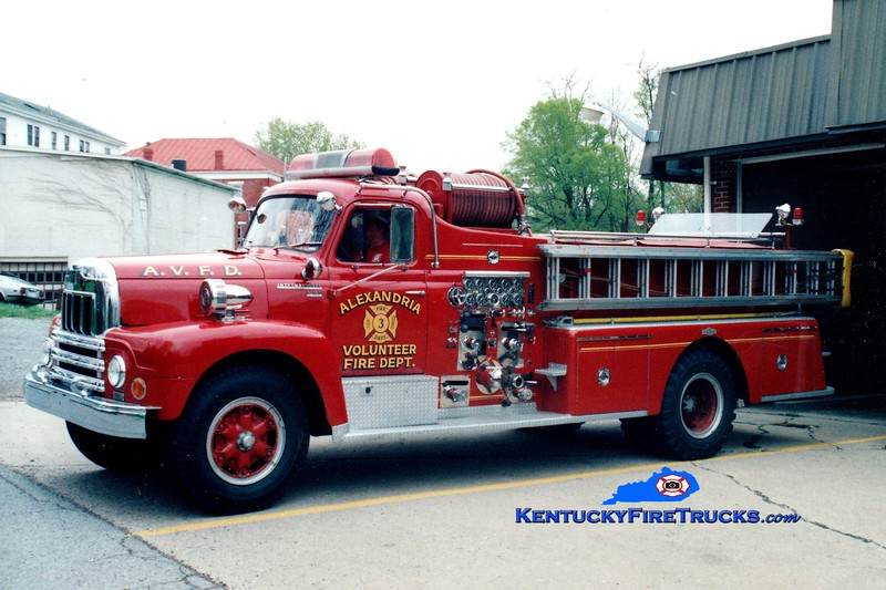 RETIRED<br /> Alexandria  Engine 103<br /> 1962 International/Pirsch 750/500<br /> Greg Stapleton photo