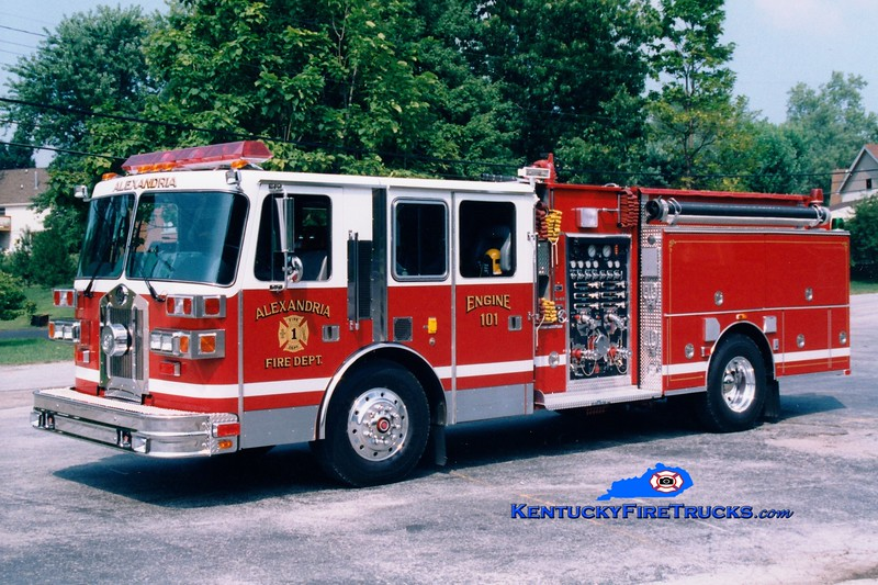 <center> Alexandria  Engine 101  <br> 1993 Sutphen 1500/750 <br> Greg Stapleton photo </center>