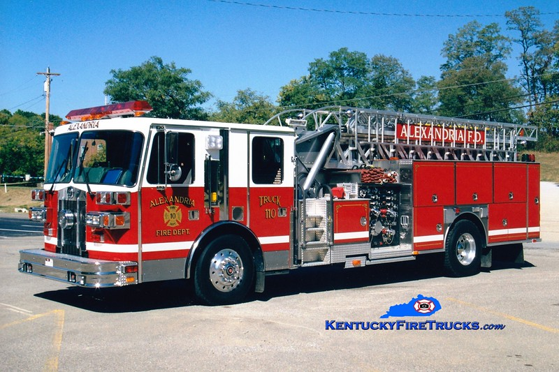 <center> Alexandria  Truck 110  <br> 1994 Sutphen 1500/500/75'  <br> Greg Stapleton photo </center>