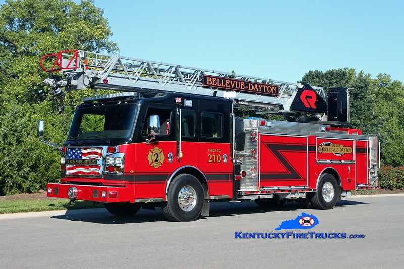 Bellevue-Dayton  Truck 210<br /> 2016 Rosenbauer Commander 1500/500/78'<br /> Kent Parrish photo