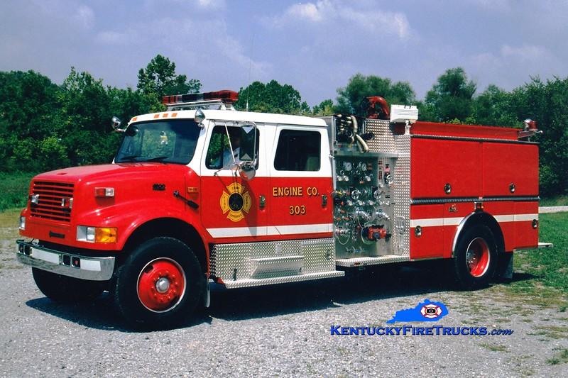 <center> RETIRED <br> Camp Springs  Engine 303  <br> 1994 International 4900/Ferrara 1000/500  <br> Greg Stapleton photo </center>